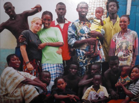 Mamadou Seck's family and me, Niangal-Senegal-2001