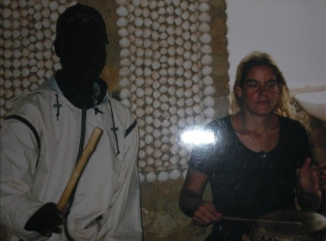 Playing for Mamadou Fall, Toubab Dialaw-Senegal-2001