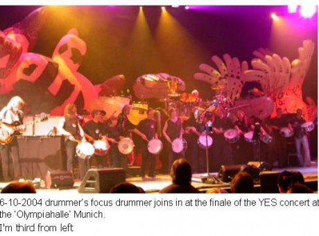 drummers from drummers focus Munich joining YES on stage, Munich-GER-2004