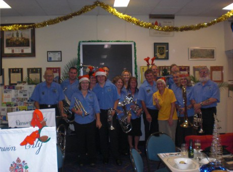 Playing with the Darwin Brass Band, Darwin-Australia-2010